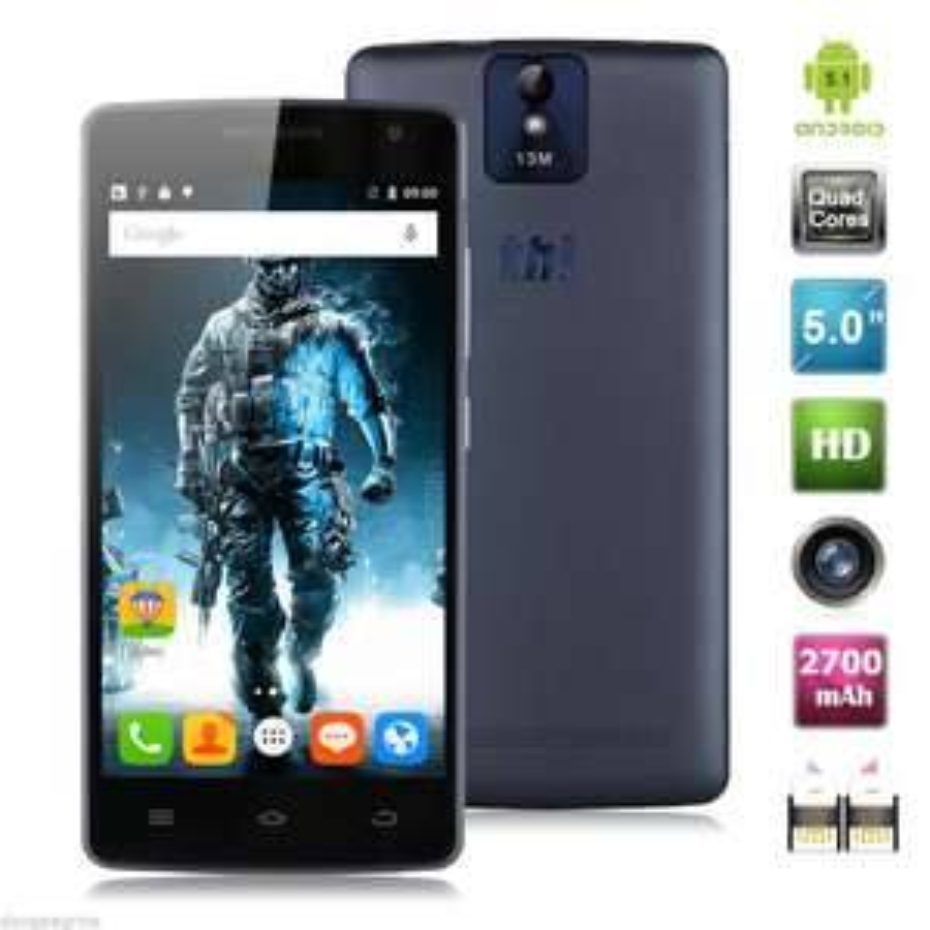 "Smartphone 5"" THL 2015A - 4G (B20), HD, Quad-Core MT6735, RAM 2Go, 16Go, Android 5.1"