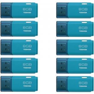 Pack de 10 clés USB 2.0 Toshiba 8 Go TransMemory U202
