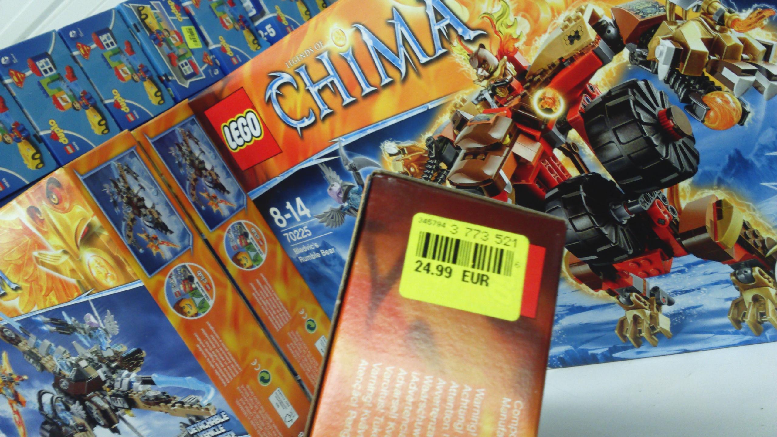 Jouet Lego Chima Vautour Volant 70228 et L'ours De Bladvic 70225