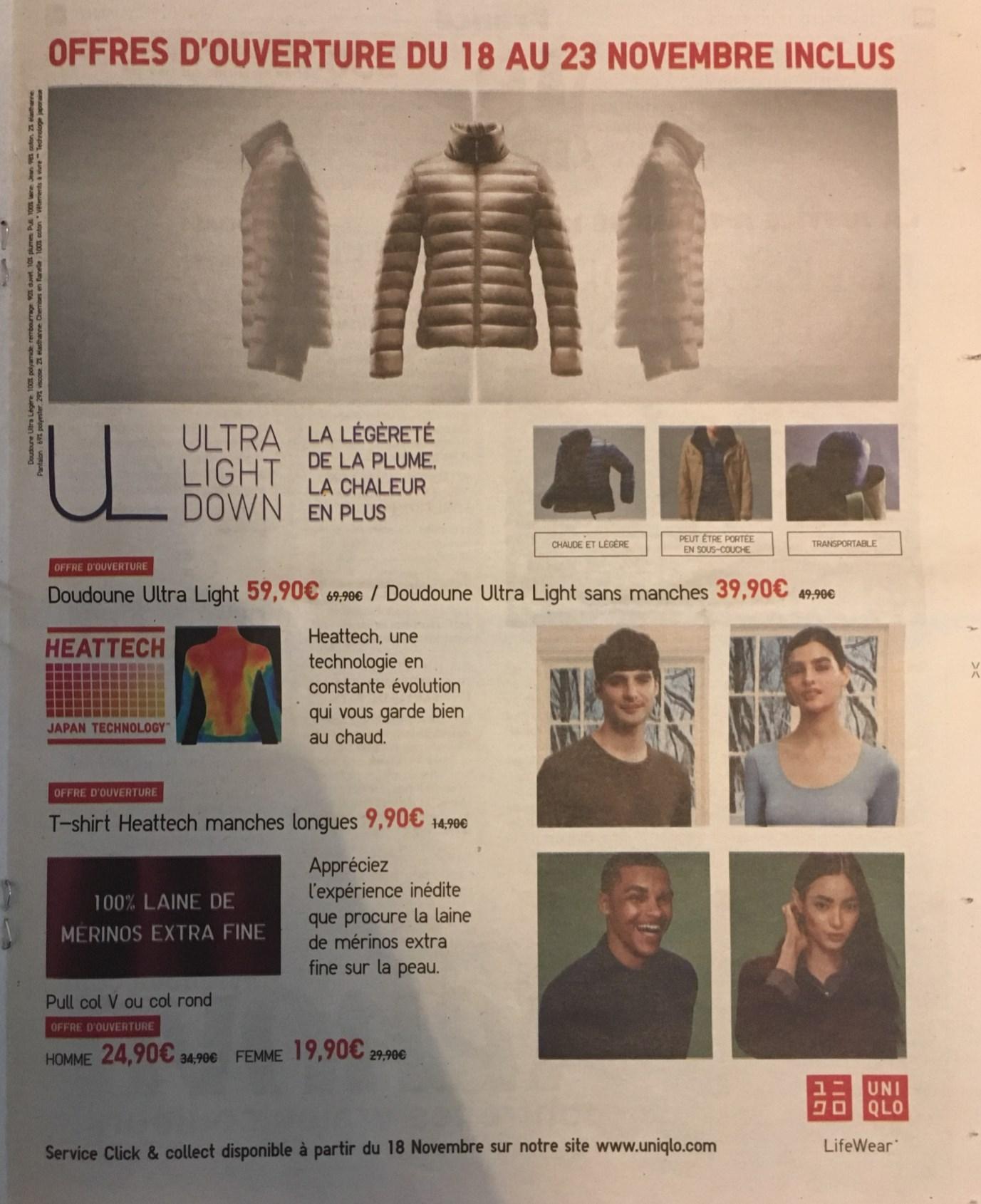 Sélection de promotions - Ex : Doudoune Ultra Light