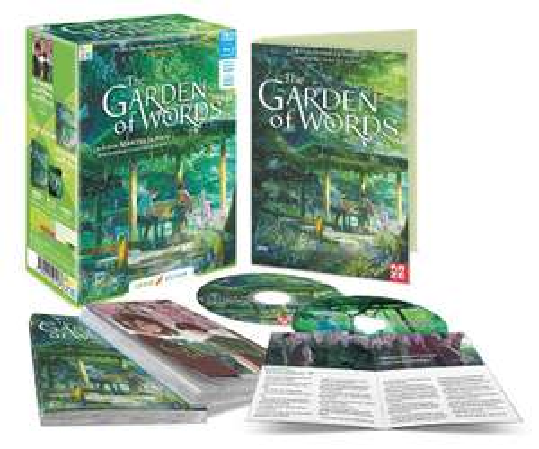 Coffret Blu-ray Garden of Words (+ DVD + Manga + Roman) - Édition limitée