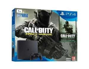"Pack Console PS4 Slim 1To + Call of Duty Legacy PS4 (Infinite Warfare + Modern Warfare Remastered) + Casque Micro ""Communicator"" filaire PS4 + FIFA 17 (PS4)"