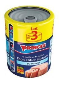 Lot de 3 boîtes de thon Princes - 190 g (via 4.44€ sur la carte fidélité)