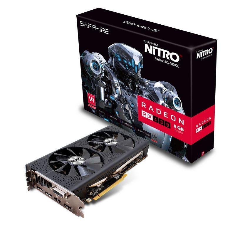 Carte graphique Sapphire AMD Nitro + Radeon RX 480 8Go GDDR5