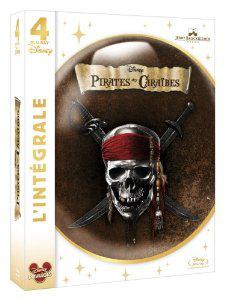Blu Ray Pirates des Caraïbes - La quadrilogie (5 blu ray 4 films +1 bonus)