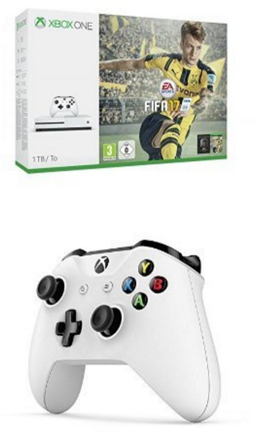 Sélection de Packs Xbox One en promotion - Ex : Console Microsoft Xbox One S 1 To + Fifa 17 + Deuxième manette