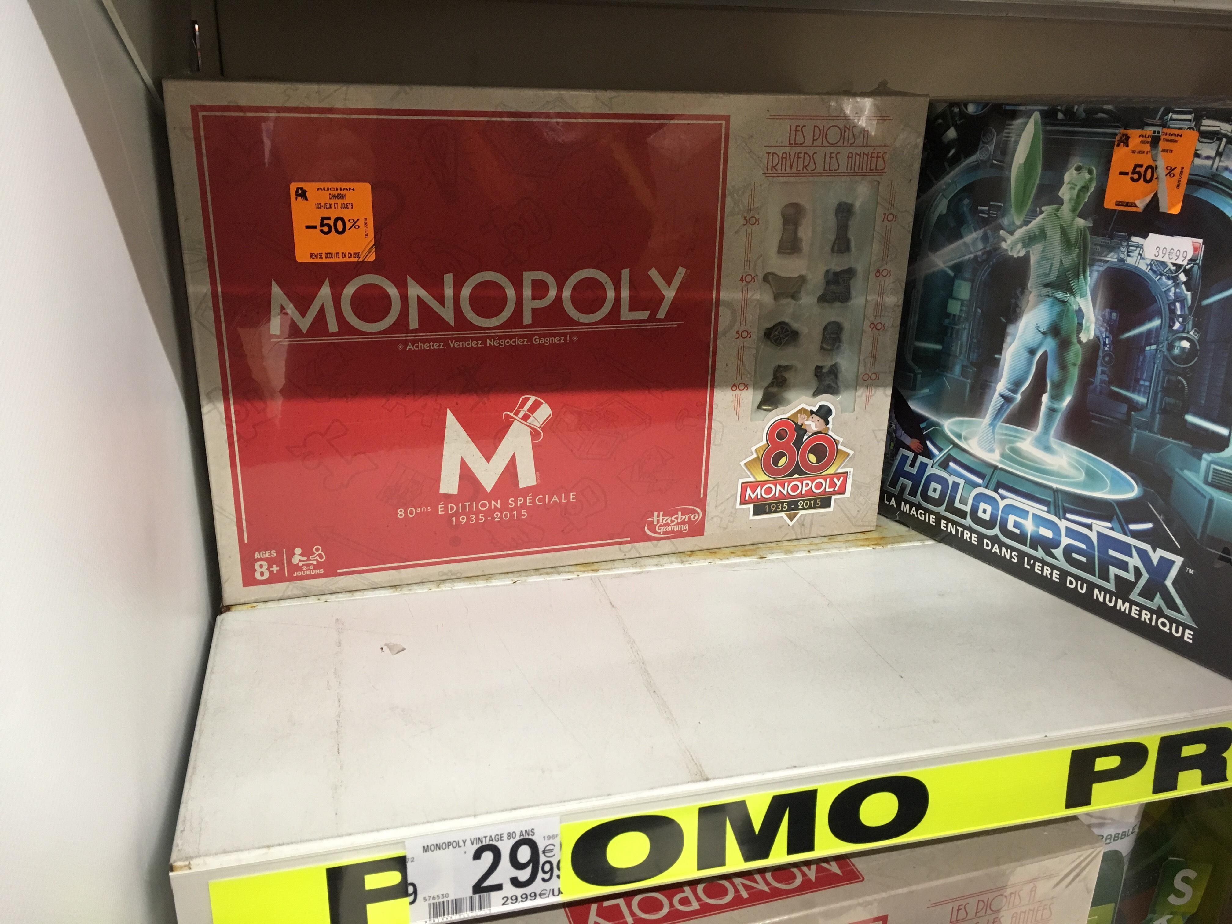 Jeu de société Monopoly - Edition spéciale 80 ans