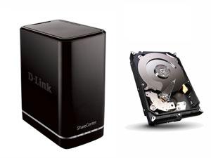 NAS D-Link DNS-320L + Disque dur Seagate 2 To