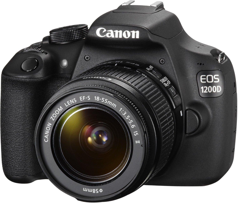 Appareil photo numérique Reflex Eos 1200D + Objectifs 18-55 et 75-300 + Carte SD Wifi 8 Go + Sac de transport