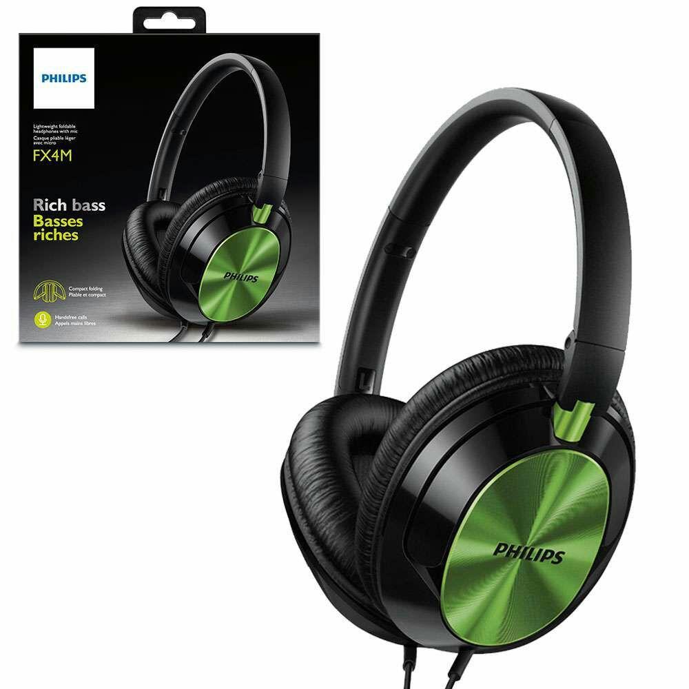 Casque Philips FX4MLM - Noir/vert