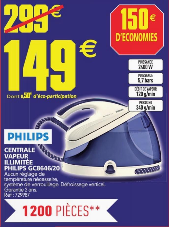 Centrale vapeur Philips GC8646/20