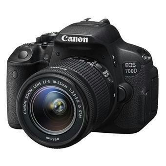 Reflex Canon EOS 700D + Objectif Canon EF-S IS STM 18 - 135 mm f/3.5 - 5.6 + Sac à dos + SDHC 16Go (Avec ODR de 50€) + 60€ en chèque cadeau pour les adhérents