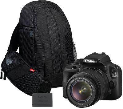 Kit appareil photo numérique réflex Canon EOS 100D + Objectif 18-55mm Canon DC III + 2 batteries + Sac (via ODR de 50€)