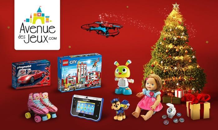 30% de réduction sur votre commande avenue des jouets (hors promotions, points rouges...)