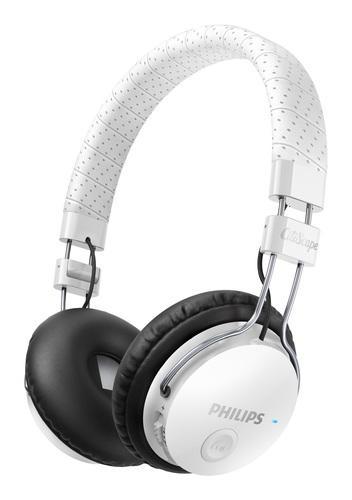 Casque pliable Bluetooth Philips Citiscape SHB8000WT/00 Foldie avec prise d'appel pour téléphone portable