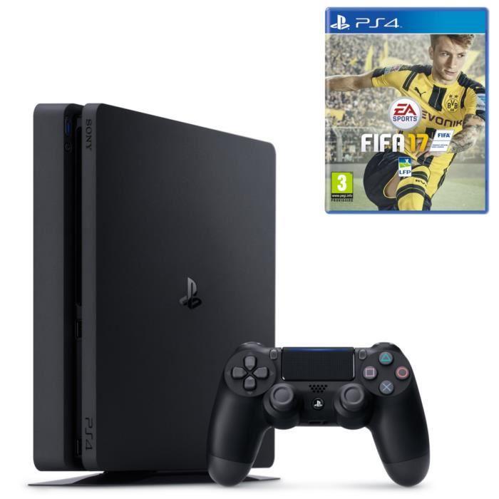 [Adhérents] Console PS4 Slim - 500 Go + Fifa 17 + 30€ offerts en chèques cadeaux +10% remise