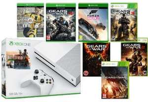 Pack Xbox One S 500 GB + 8 jeux (Battlefield 1 + Gears of War 1 à 4 + Judgment + FIFA 17 + Forza Horizon 3)