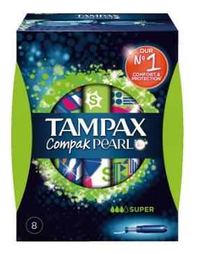 Boîte de tampons Tampax Compak Pearl x8 (via BDR + Coupon Network) gratuite