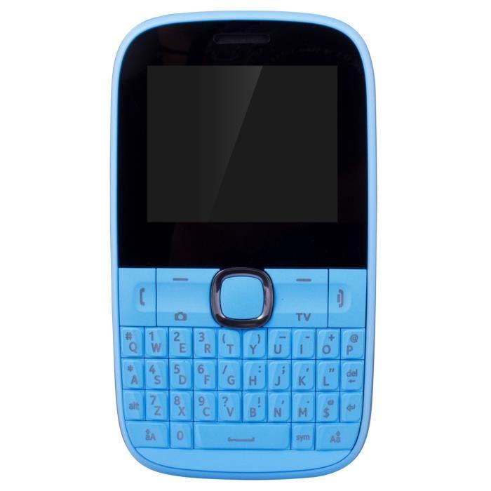 "Téléphone portable 2"" Ice Phone Fun - double-SIM, bleu ou rose"