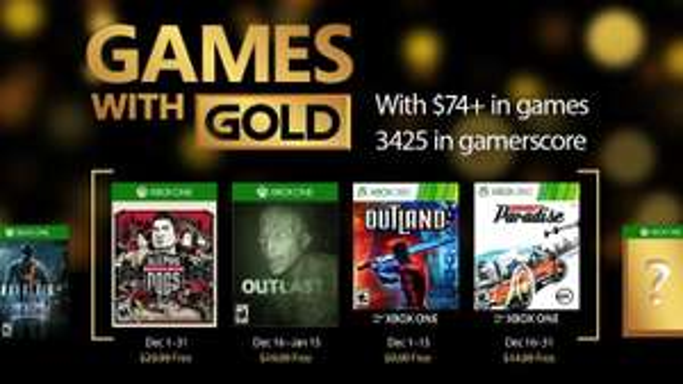 [Membres Gold] Sélection de jeux vidéo gratuits sur Xbox 360 et Xbox One (dématérialisés) - Ex : Outlast et Sleeping Dogs sur Xbox One