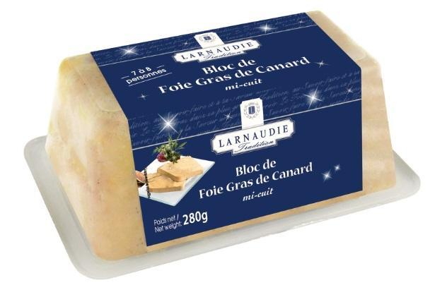Bloc de foie gras de canard Jean Larnaudie (via 13.99€ sur la carte Waaoh)