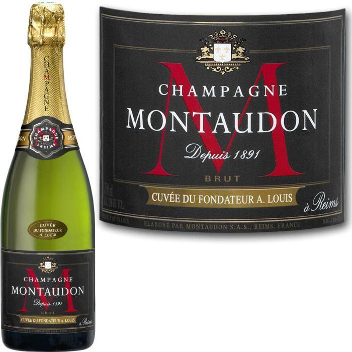 Lot de 5 bouteilles de Champagne Montadon Cuvée du fondateur - 75cl (via 8€ en bon d'achat)
