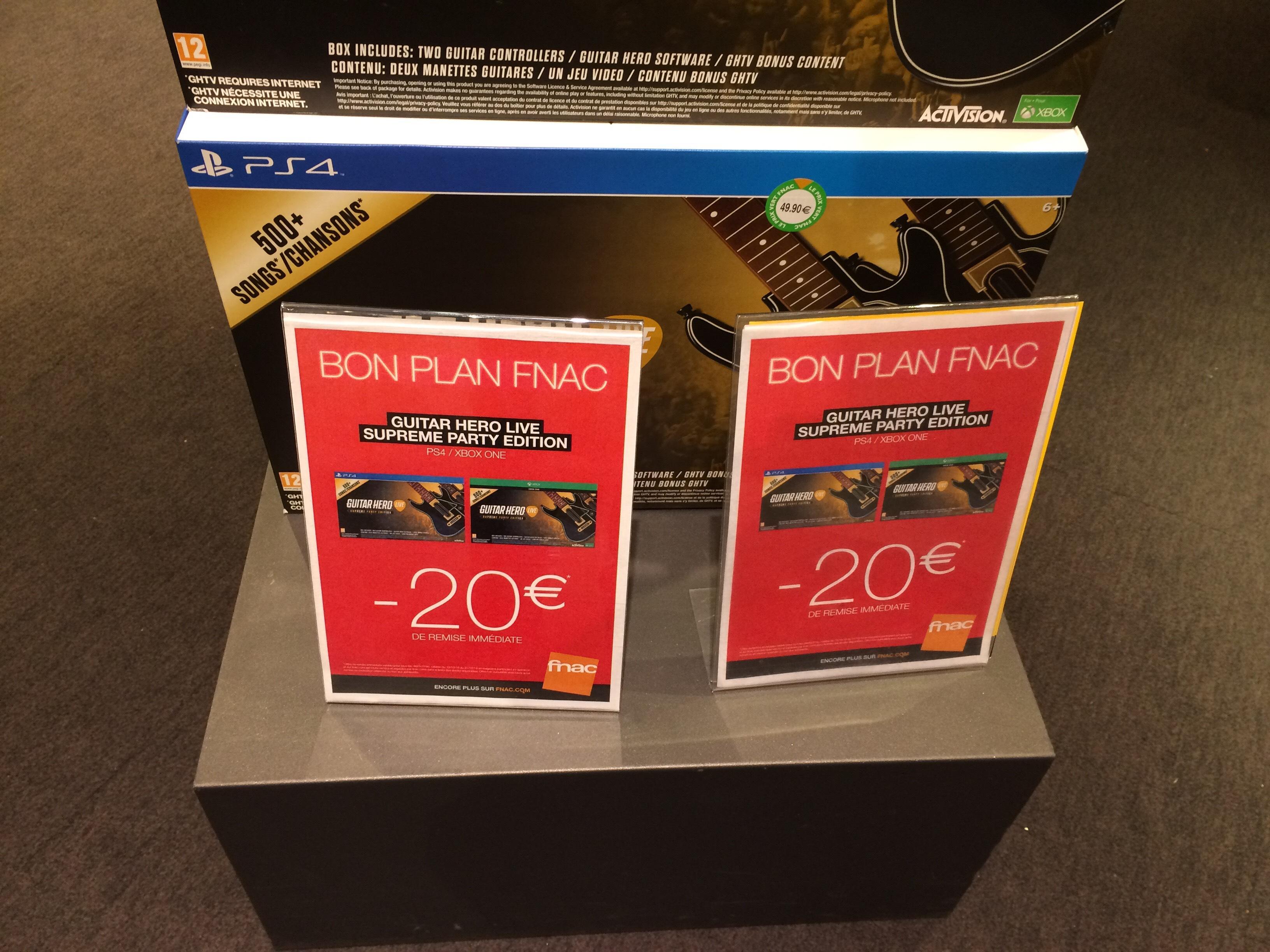 Guitar Hero Live Suprême Party édition sur PS4 ou Xbox One