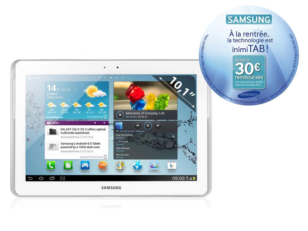 """Samsung 10.1""""  Galaxy  Tab 2-  16 Go Blanche - Avec ODR 30€"""