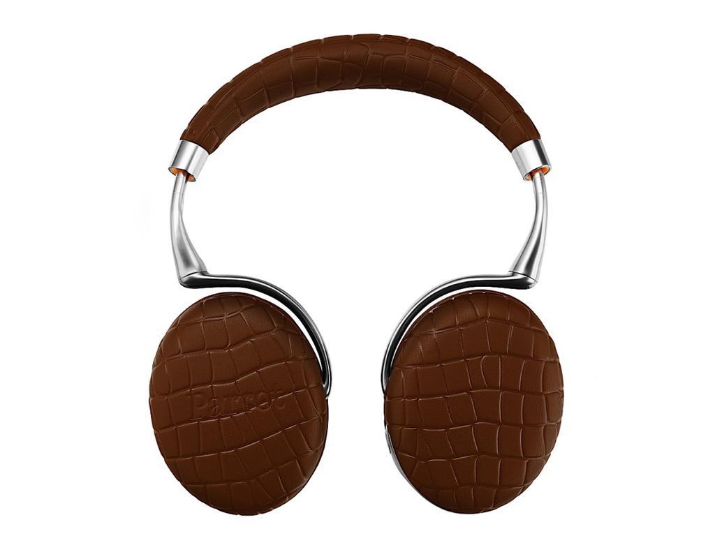Casque Audio Sans-fil Parrot Zik 3 Brun Croco - Bluetooth + Chargeur à induction