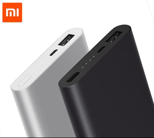 Batterie externe Xiaomi PowerBank 2 - 10000 mAh, QC 2.0 In & Out (Gris ou Noir)