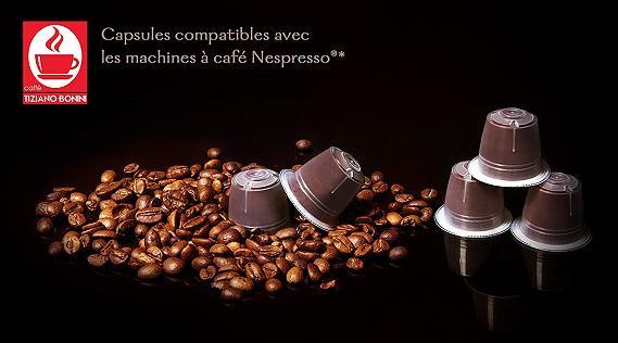 Capsules de café Nespresso Tiziano Bonini + Set de 2 tasses et porte capsules