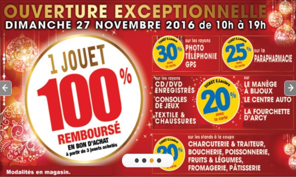 Sélection d'offres promotionnelles - Ex : 30% en tickets sur les rayons Photo, Téléphonie, Gps...