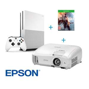 Videoprojecteur Epson EH-TW5210 - Full HD 3D + Pack Xbox One S 500Go + Battlefield 1