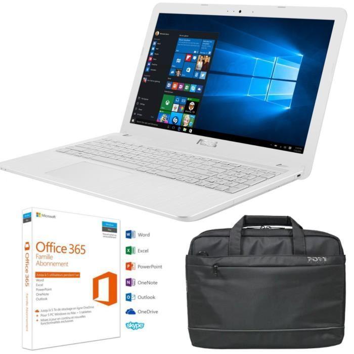 """PC portable 15.6"""" Asus X541UA-XX264T (i5-6198DU, 4 Go de RAM, 1 To) + sacoche + abonnement à Office 365 Famille (pendant un an)"""