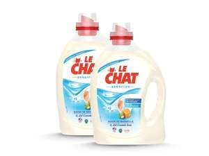 Lot de 2 bidons de lessive liquide Le Chat Sensitive - 2.5 L