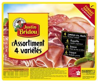 Sélection de produits Justin Bridou en promotion - Ex: Lot de 3 assortiments 4 variétés (via ODR)