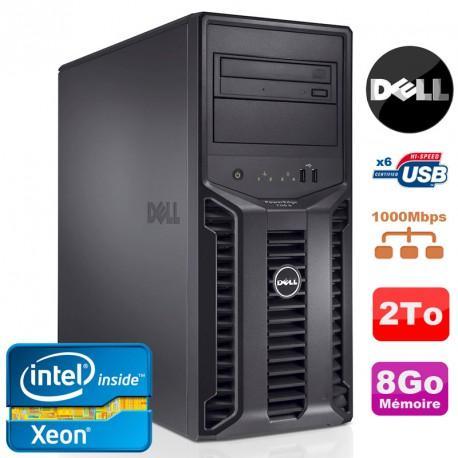 Serveur Dell PowerEdge T110II Reconditionné - Xeon Quad Core E3-1220 3.1Ghz, NR 8Go, 2To DVD