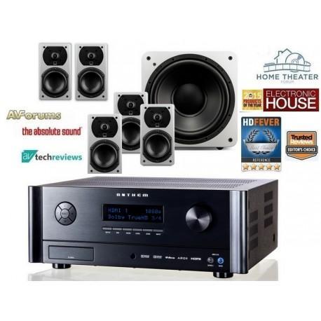 Ampli Home Cinema 5.1 Anthem MRX-310 +  Pack d'enceintes satellites SVS Prime 5.1 blanc laqué