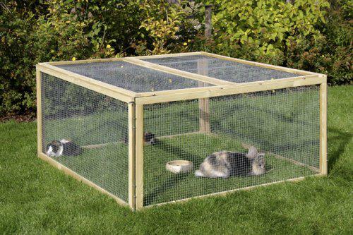 Parcs animaliers en promo : Ex : Enclos pour rongeur et lapin, en bois