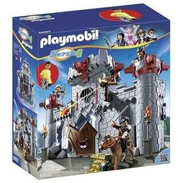 Jouet Playmobil 6697 Super4 Citadelle Transportable Du Baron Noir