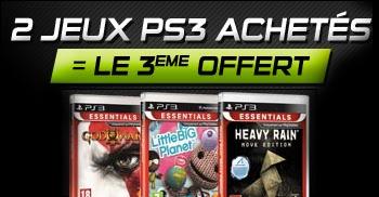 2 Jeux PS3 Essentials achetés = Le 3ème offert