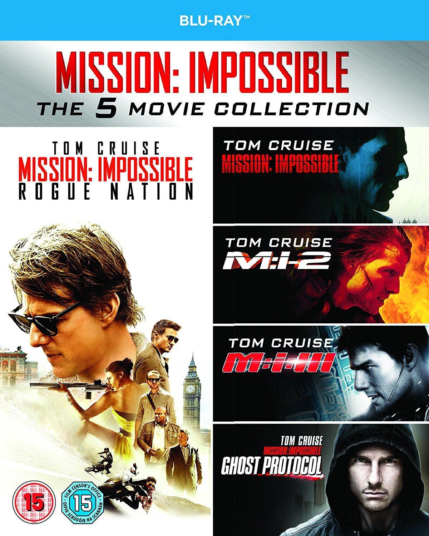 Coffret Blu-ray Mission Impossible (l'intégrale des 5 films en VF)