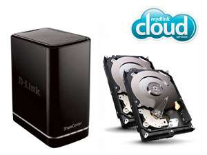 NAS 2 Baies D-Link DNS-320L + 2 To (2 x 1 To WD Caviar Green)