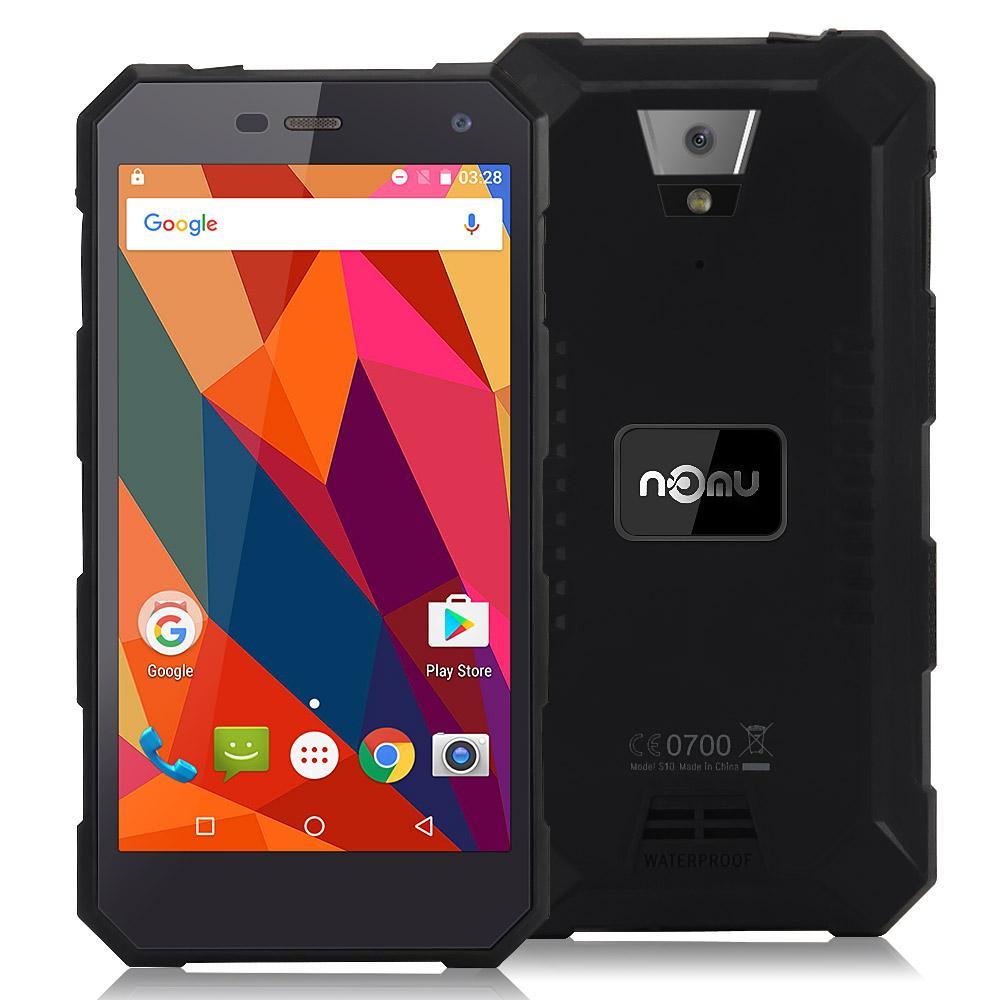 "Smartphone 5"" Nomu S10 - 2 Go de RAM, 16 Go, 4G (B20), 5000 mAh, étanche, noir"
