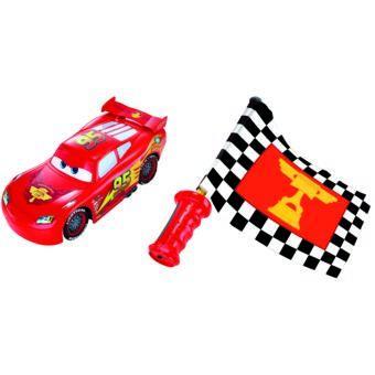Jouet Disney Cars Flash McQueen (avec drapeau)