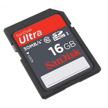 Carte mémoire SDHC Sandisk Classe 10 - 16 Go