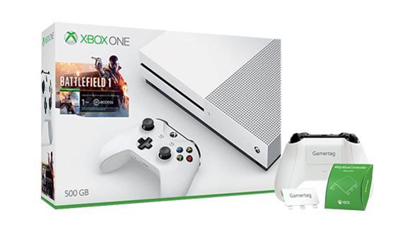 Xbox One S 500go + battlefield 1 + forza horizon 3 ou gears of wars 4