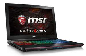 "PC Portable 15.6"" MSI GE62VR 6RF-221XFR Apache Pro Noir (Full HD, i5-6300HQ, HDD 1 To + SSD 128 Go, RAM 8 Go, GTX 1060 3 Go, Sans OS) + pack d'accesoires Dragon Fever Summer"