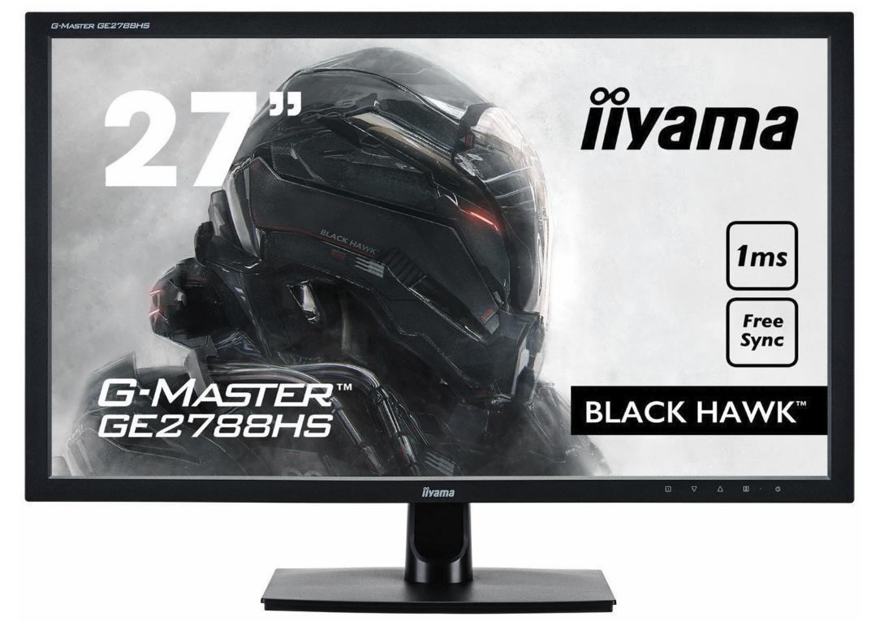 "Ecran PC 27"" Iiyama GE2788HS-B2 G-Master Black Hawk - FreeSync, Full HD, DVI/HDMI/VGA, 1ms"