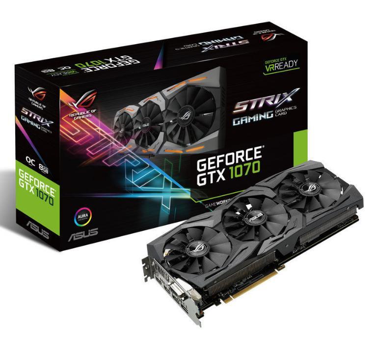 Carte graphique Asus GeForce STRIX GTX1070 8G Gaming + Watchdog 2